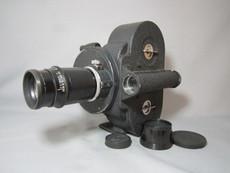 Hand Crank Bell & Howell Eyemo 35mm Movie Camera + 100mm Ilex Lens