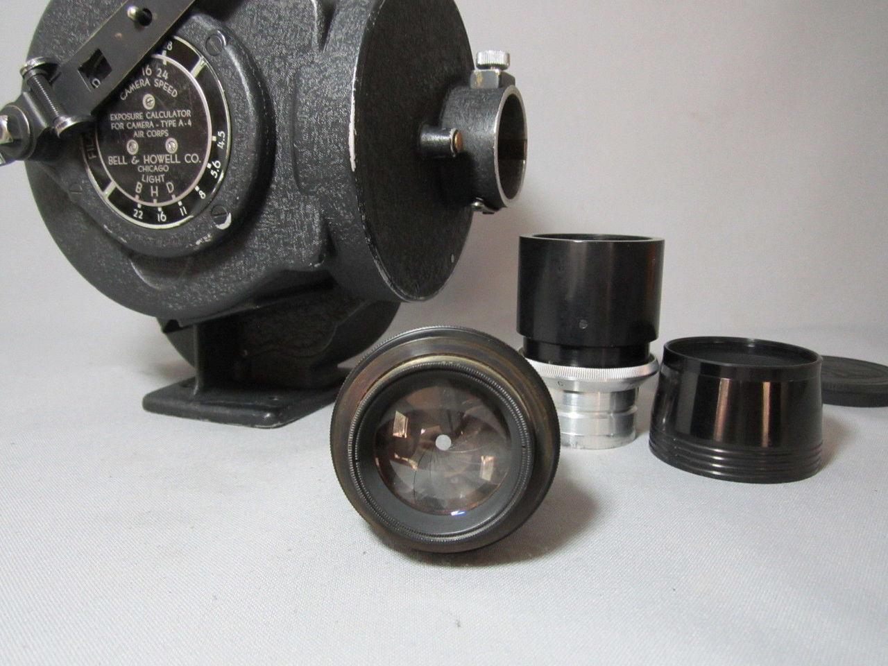 Hand Crank Bell & Howell Eyemo 35mm Movie Camera + 100mm