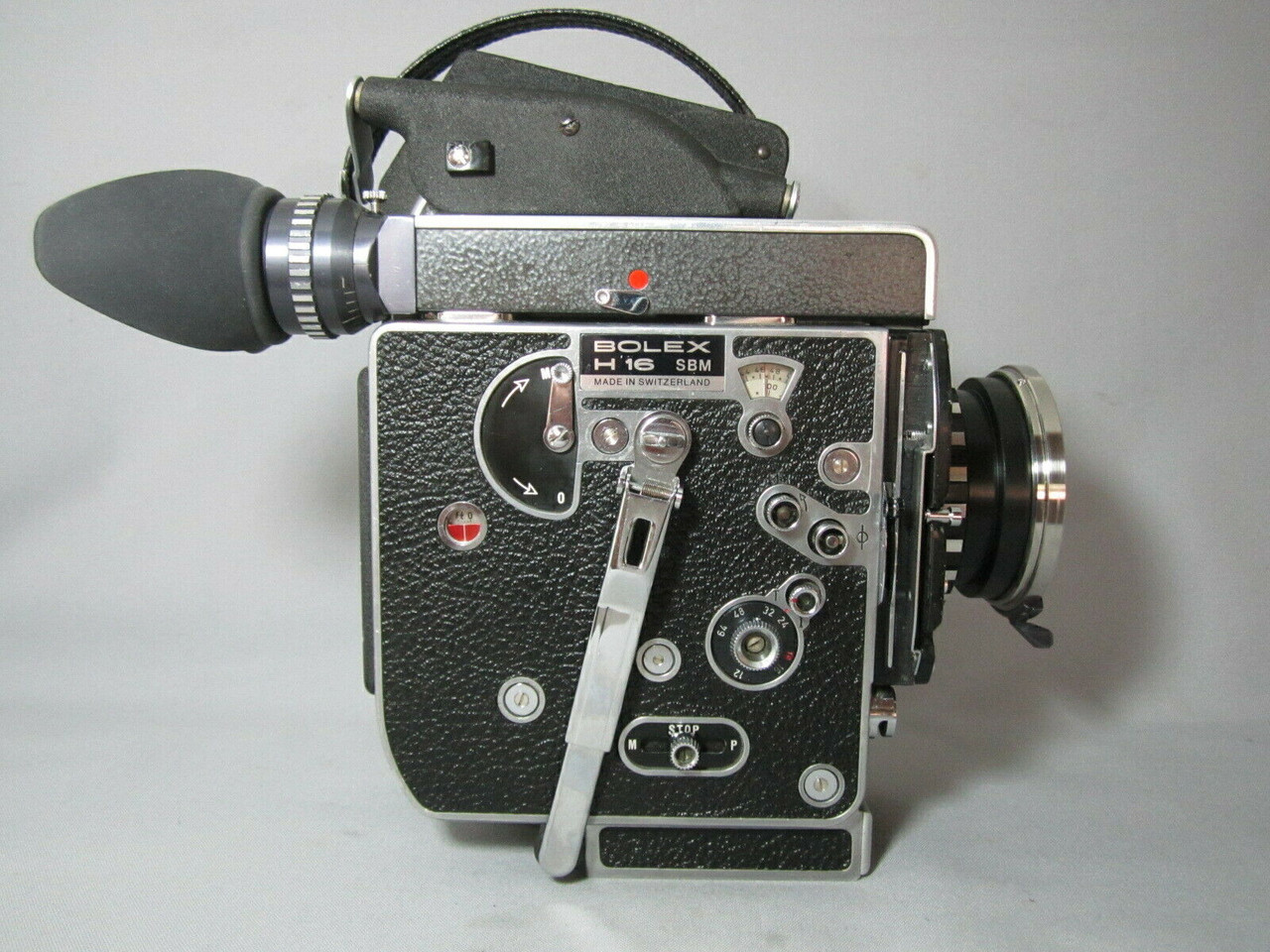 Super-16 PL-MOUNT Bolex SBM 13x Viewer 16mm Red Dot Movie Camera #2
