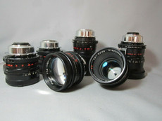 ARRI Zeiss Superspeeds PL-Mount 6-Lens Set for 35mm Movie Cameras - 18mm, 25mm, 35mm, 50mm, 85mm, 135mm