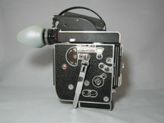 Super-16 Bolex Rex-5 C-Mount Movie Camera with 13x Viewer