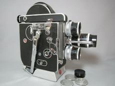 SALE - Bolex Rex-1 16mm Movie Camera Package + 3 Lenses