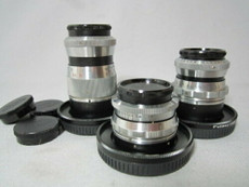 Schneider Xenon 16mm, 25mm, 75mm C-Mount Lens Set