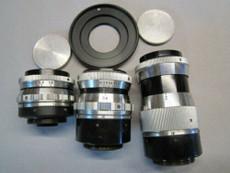 Schneider Xenon 16mm C-Mount Lens Set -- 16mm, 25mm, 75mm