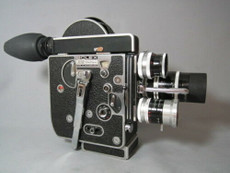 Super-16 Bolex Movie Camera with 10mm, 25mm, 75mm Kern C-Mount Lenses