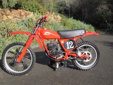 1978 Honda CR 125 Vintage Motocross Dirt Bike