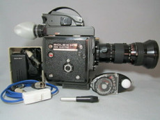 STUNNING - Bolex EBM 16mm Movie Camera + Kern MC Switar 12.5-100mm Production Kit