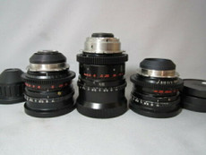 35mm ARRI ZEISS B-Speeds PL-Mount 3-Lens Set 1.2/18MM, 1.2/35MM, 1.4/85MM Superspeeds