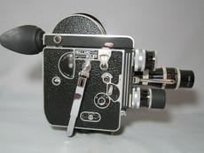 Bolex 16mm Movie Camera Package (16mm, 25mm, 100mm Kern C-Mount Lenses)