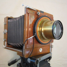 SOLD - German Kugler 5x7 Wood Field Camera with Rodenstock Brass Lens + Shutter