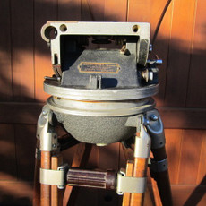 Akeley Gyro Geared Head & Wood Tripod for 35mm Movie Camera - SOLD
