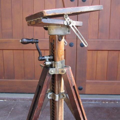 ansco hand crank metal wood tripod no 2222222