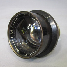 SOLD - 1920's Zeiss Biotar 1.4/70mm (7cm) Lens from Akeley Hand Crank 35mm Movie Camera