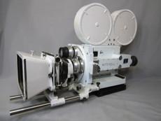 White Military Rackover Mitchell GC Hand-Crank 35mm Movie Camera