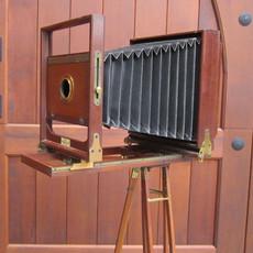 1885 Rochester 6x8 Folding Wood Field Camera