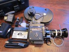 "Super 16 ""Les Bosher UK"" Bolex S-16 Movie Camera Package | Kern Zoom Lens | Battery Charger"