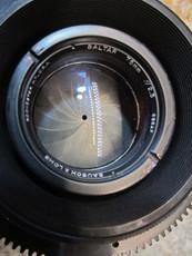 Bausch & Lomb Baltar 2.3/75mm Mitchell Mount 35mm Lens (No 666AF) | New Old Stock | Vintage Movie Camera Lens