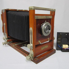 Korona View Gundlach Opt. Co. 4x5 Folding Wood Camera
