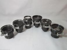 Super-16 Schneider Arriflex Lens Set 10mm, 16mm, 25mm, 35mm, 50mm, 75mm | BMPCC Lenses