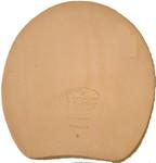 Leather hoof pads