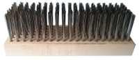 Flat soft wire hoof brush