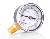 Pressure gauge for gas forge