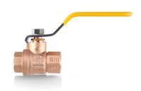 Ball valve for blacksmith gas forge