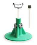 Standard green HoofJack hoof stand and cradle