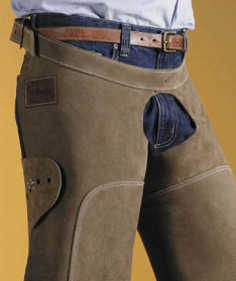 Gibbins hipster open front farrier chaps