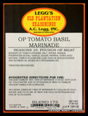 A.C. LEGG OLD PLANTATION TOMATO BASIL MARINADE BLEND # 175