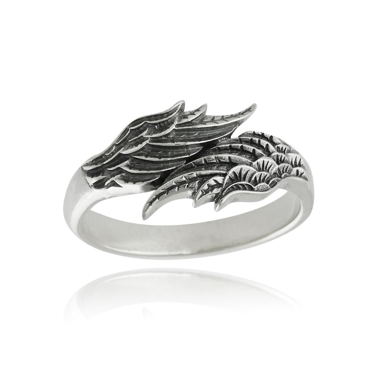 Angel Wings Ring Sterling Silver Fashionjunkie4life