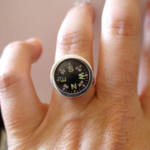 Sterling Silver Working Compass Ring