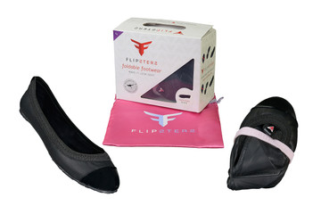 Fine faux leather upper  - Comfortable micro suede lining - Twistable memory form rubber sole - Durable and Lightweight - Compact size which can be fitted in your handbag - Free art designed storage bag