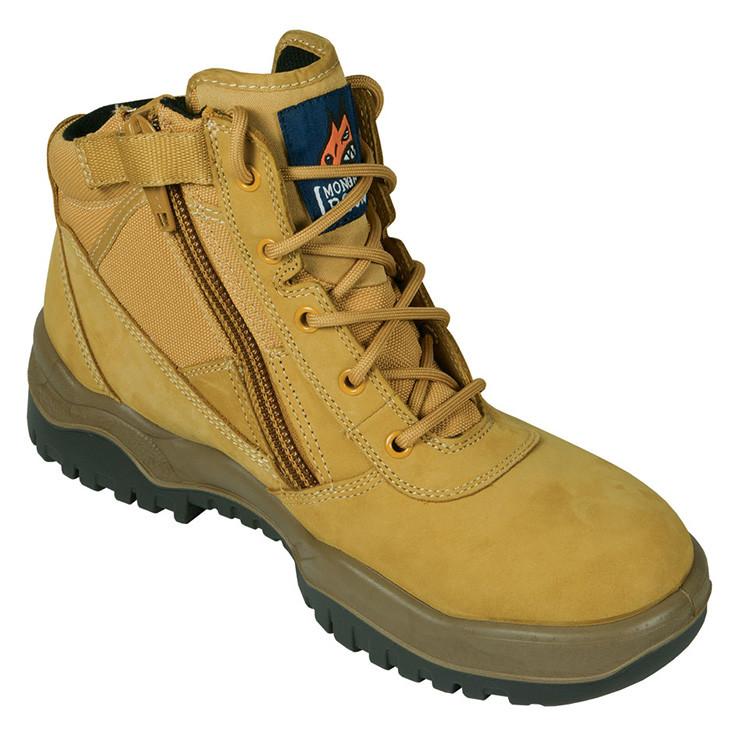 Mongrel Boots 261050 Wheat Zip Side Steel Toe Work Boots