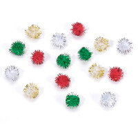 "Pom Poms, Red, Green, White, Pink, Blue, Pastels  1/5"" to 1"""
