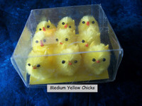 9 Medium Yellow Fuzzy Chenille Chicks