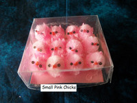 12 Small Pink Fuzzy Chenille Chicks