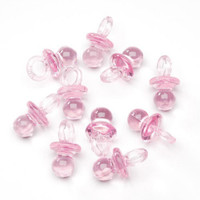 24 Plastic Pink Pacifier shaped favors