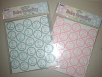 Baby shower Stickers Boy or Girl