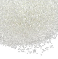 1 Tube of Micro 1mm Glass Undrilled Beads Clear AB