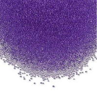 1 Tube of Micro 1mm Glass Undrilled Beads Translucent Purple