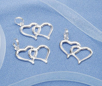 20pc Wedding Linked Heart Charms, Favors