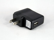 USB wall charger adapter for e-cigarette battery