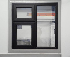 Black PVC window