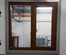 Oak pvc window