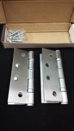 chrome set ball-bearing hinges