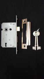 chrome mortice lock (key)