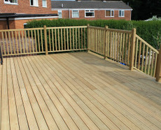 Decking boards in suite