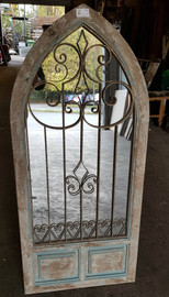 arch mirror with cast iron