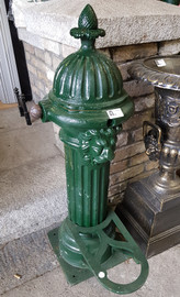 large green cast iron pump